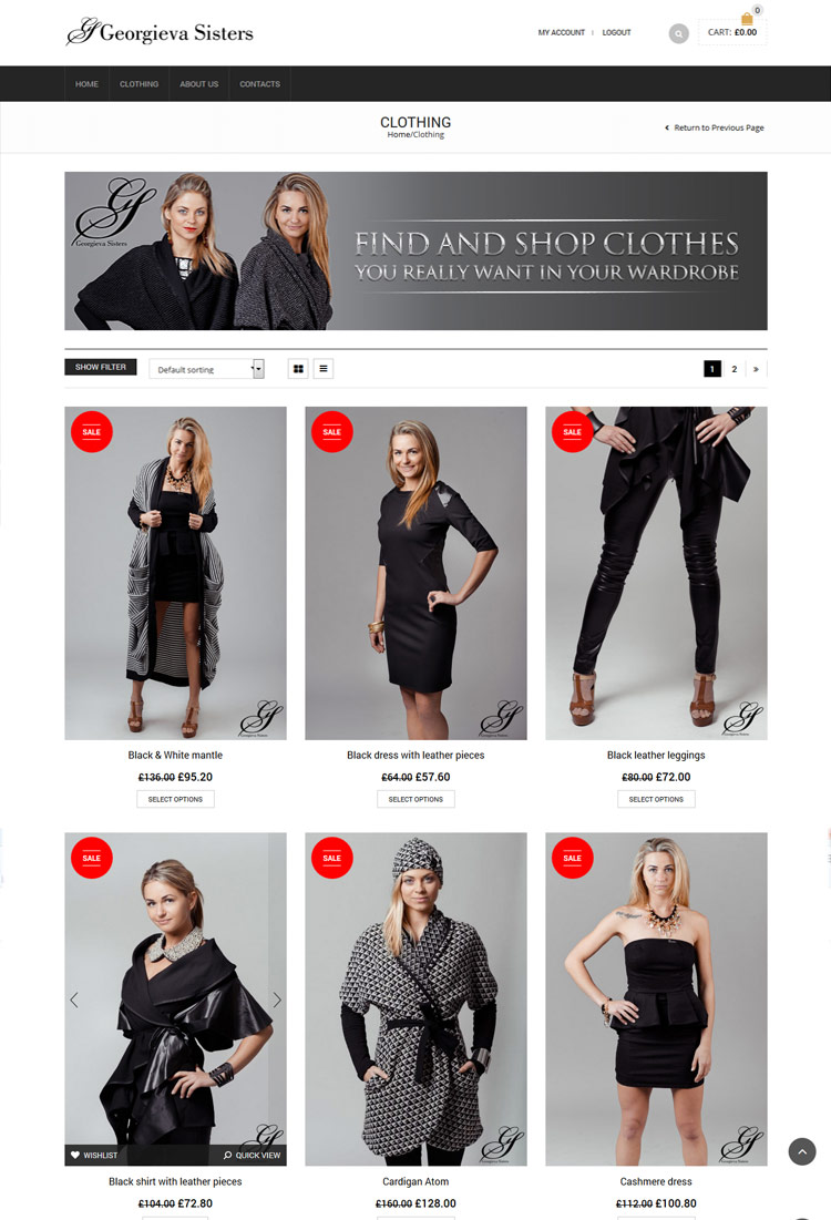 Women Clothing Website