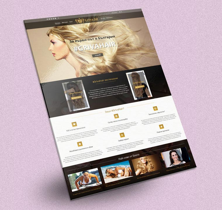 Web Design Of Website For Hair Extenshions Grivabg