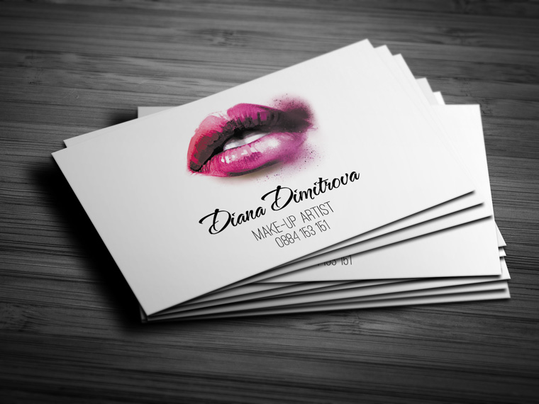 Make up artist business card design creatica studio make up artist business card design reheart Gallery