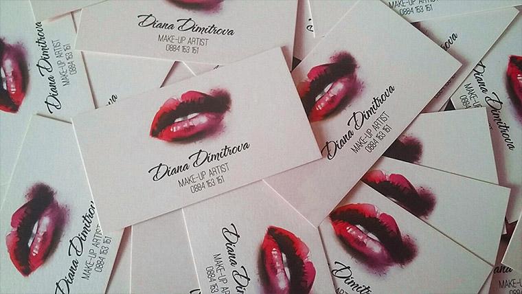 Carte De Visite Pour Artiste De Maquillage Professionnel