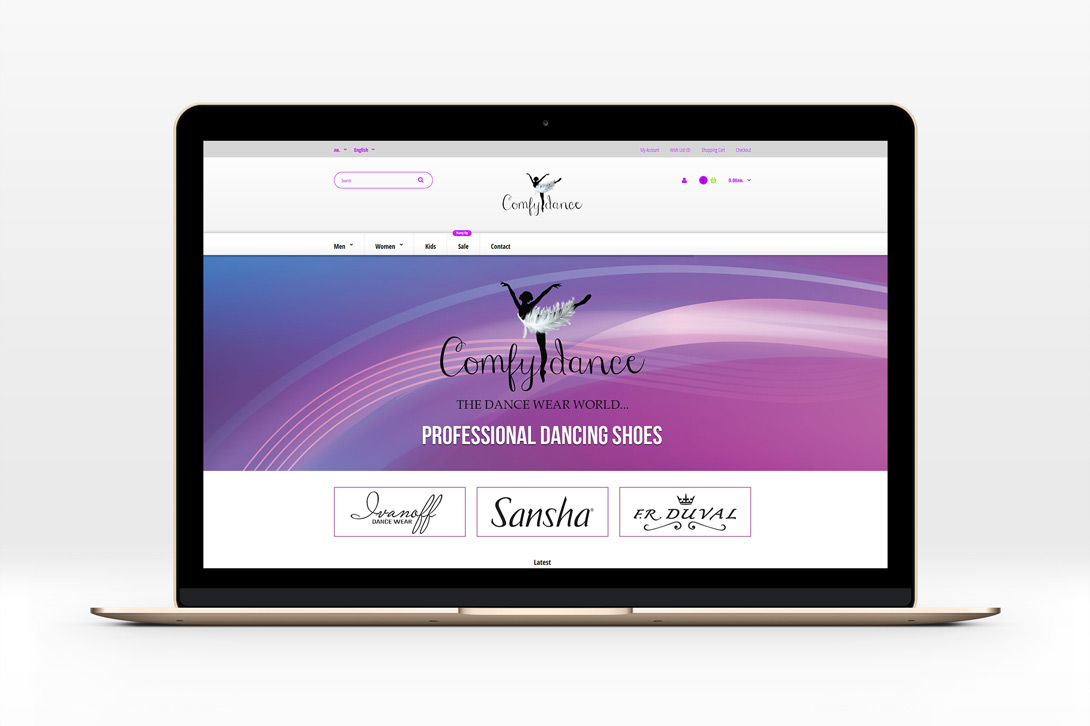 65672779af4f4 Ecommerce Website for Dancing Shoes & Clothes | Creatica Studio