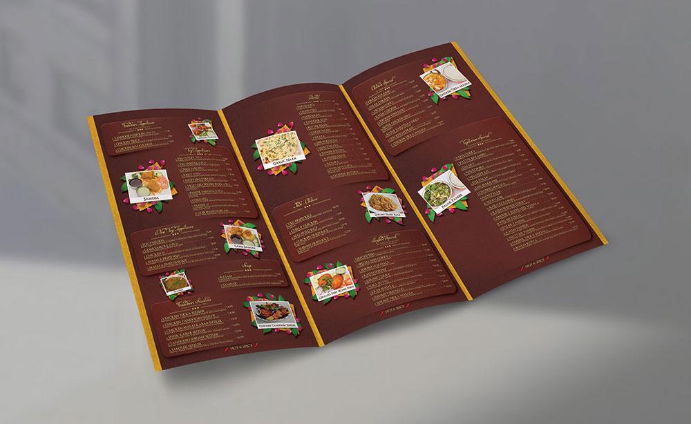 tri fold restaurant menu design creatica studio